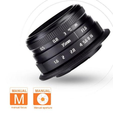 FAGINEY Objectif de mise au point manuelle 35mm f1.6 pour accessoires de photographie, appareils photo sans miroir, objectif de caméra, objectif de caméra sans miroir - image 1 de 8