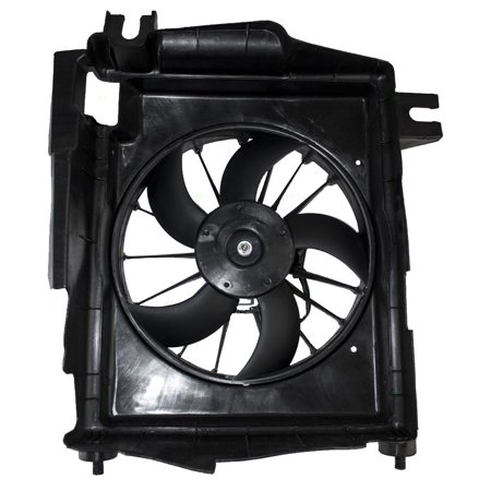 BROCK AC A/C Condenser Cooling Fan Assembly Replacement for 02-09 Dodge Ram Pickup Truck 5093760AA (Nanoflex Pickup)
