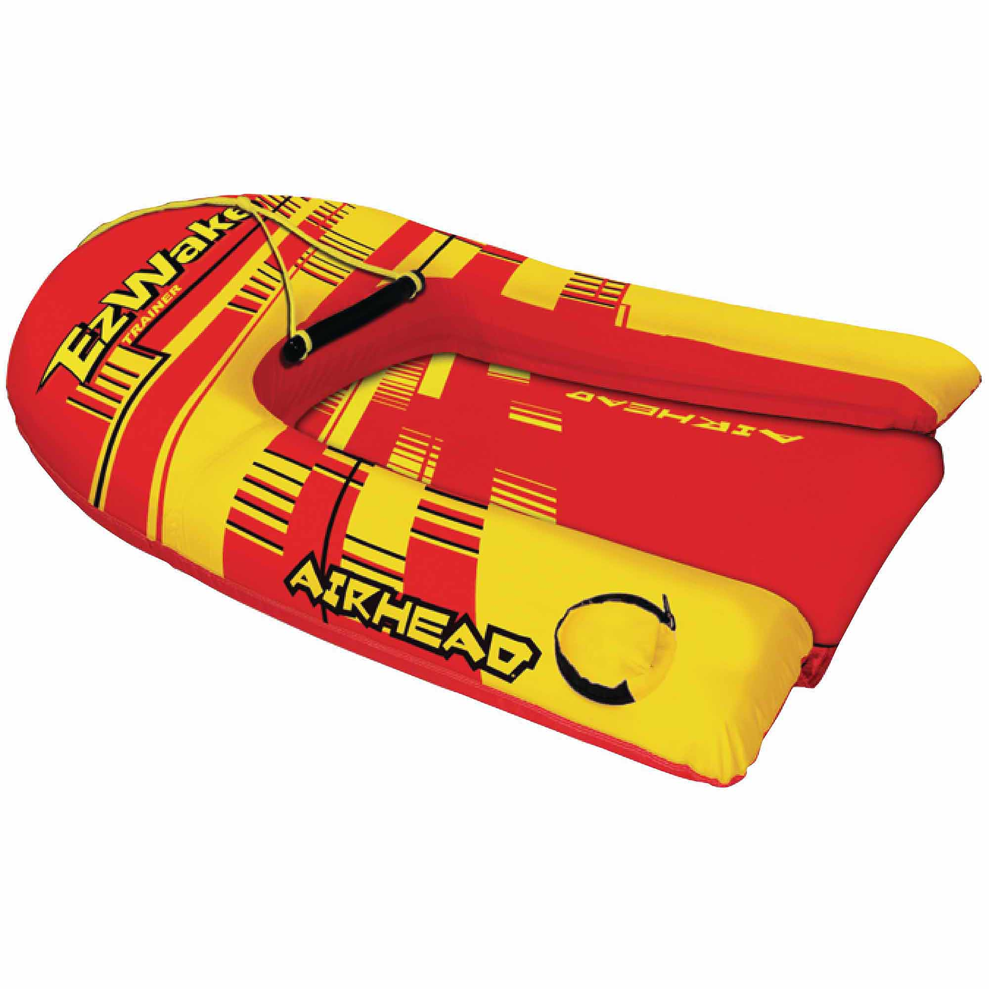 Click here to buy Airhead EZ Wake Trainer Inflatable Towable Body Board Ski Trainer and Body Board in 1 by Kwik Tek.
