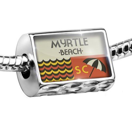 Myrtle Beach Golf Charm (Bead US Beaches Retro Myrtle Beach Charm Fits All European Bracelets )