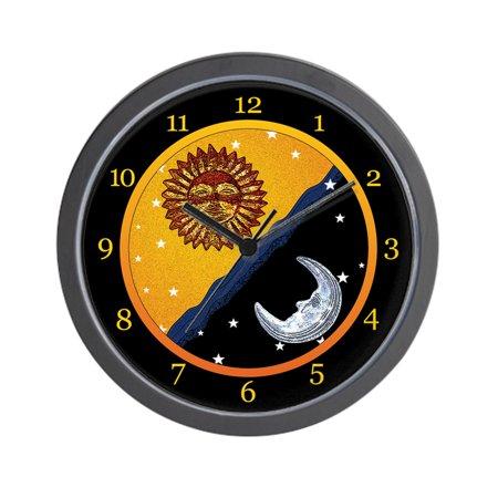 CafePress - Sun, Moon, And Stars Clock - Unique Decorative 10