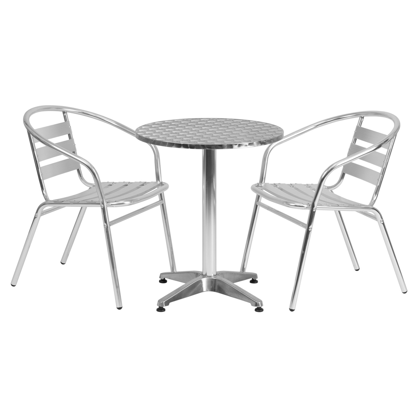 Flash Furniture 23 5 Round Aluminum Indoor Outdoor Table With 2