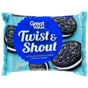 Great Value Twist & Shout Chocolate Sandwich Cookies, 15.5 oz