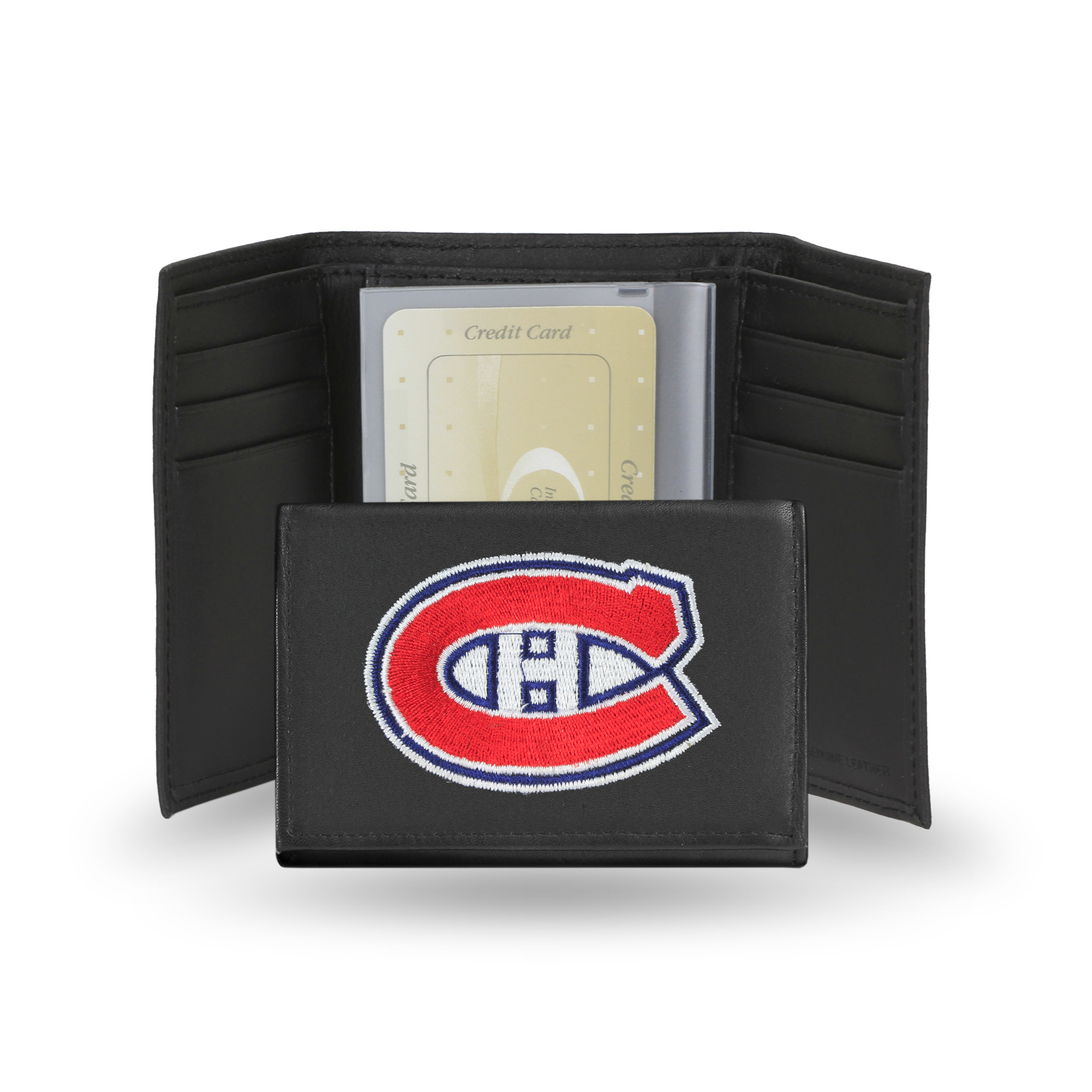 NHL - Men's Montreal Canadiens Embroidered Trifold Wallet