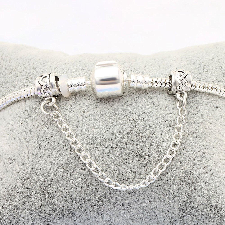 Ginger Lyne Collection Emoji Bead Charm Snake Chain Bracelet