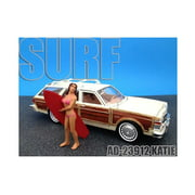 Surfer Katie Figure For 1:24 Diecast Model Cars by American Diorama