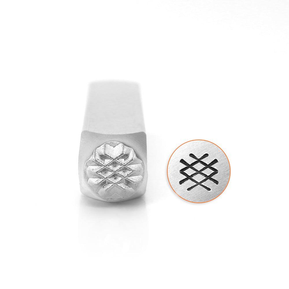 Crosshatch Texture Design Stamp, 6mm