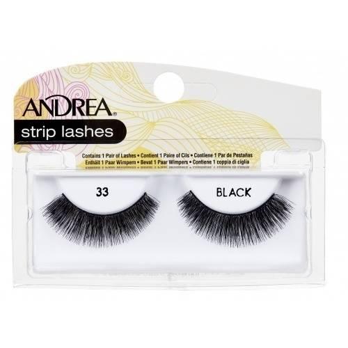 Andrea Strip Eyelashes, 33 Black, 1 pr