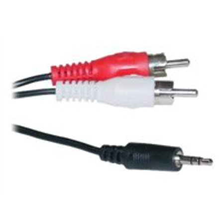 CableWholesale.com - Audio cable - RCA x 2 (M) to stereo mini jack (M) - 50 ft - shielded - black satin