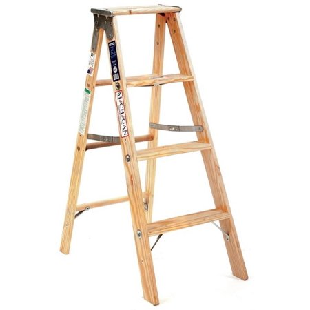 Michigan Ladder 131104 4 ft Michigan Stocky Wood Step Ladder