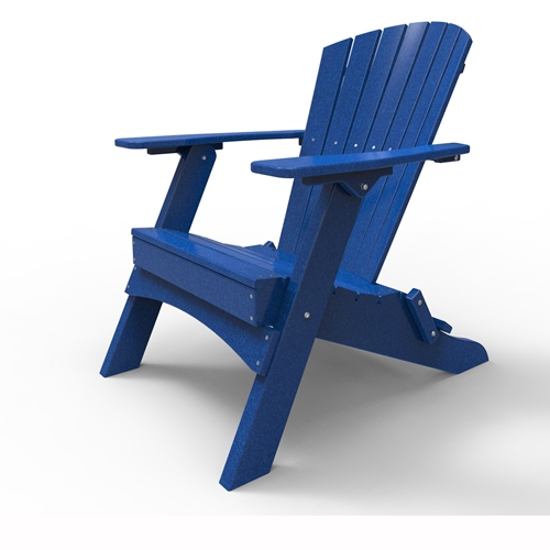 Folding Adirondack Chair by Malibu Outdoor - Hyannis, Blue