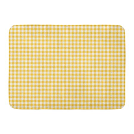 LADDKE Colorful Plaid Dark Yellow Gingham Pattern Orange Abstract Check Checkered Doormat Floor Rug Bath Mat 23.6x15.7 inch](Yellow Gingham)