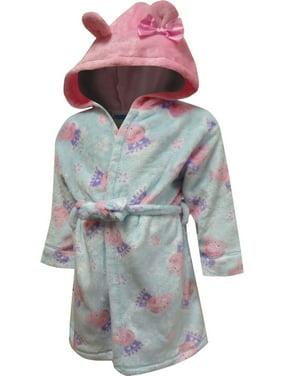 Peppa Pig Toddler Girl Hooded Robe Pajamas