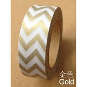 Love My Tapes Washi Tape 15mmX10m-Gold Chevron