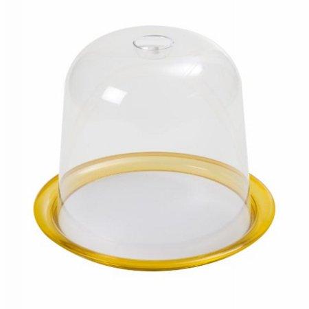 Kdg International Omada Globo Panettone Tray With Dome  13 Inch  Yellow