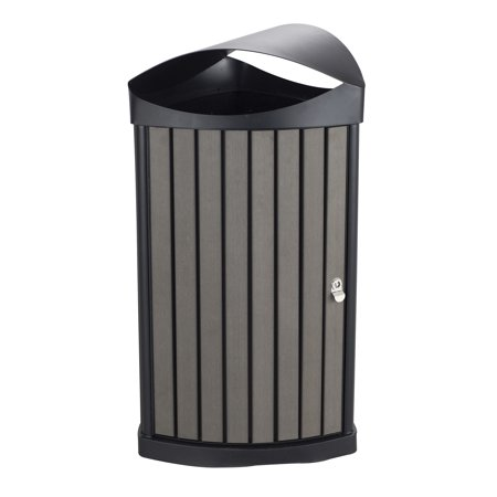 Outdoor Trash Receptacle - Safco 9969CH Trash Cans-Outdoor Spcs Nook Indoor Outdoor Waste Receptacle