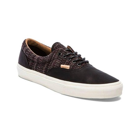 Vans Mens Era Ca Italian Weave Comfort Oxfords Mens Skateboarding Shoes Black/ Burnt