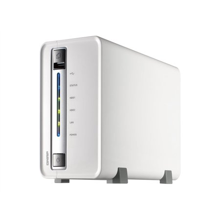 QNAP TS-210 Turbo NAS - NAS server - 2 bays - SATA 3Gb/s - HDD - RAID 0, 1,  JBOD - USB 2 0 / Gigabit Ethernet - iSCSI