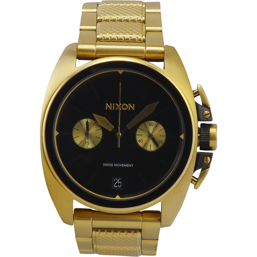 Nixon Anthem Chrono A930513 Black Dial Men's Stainless St...