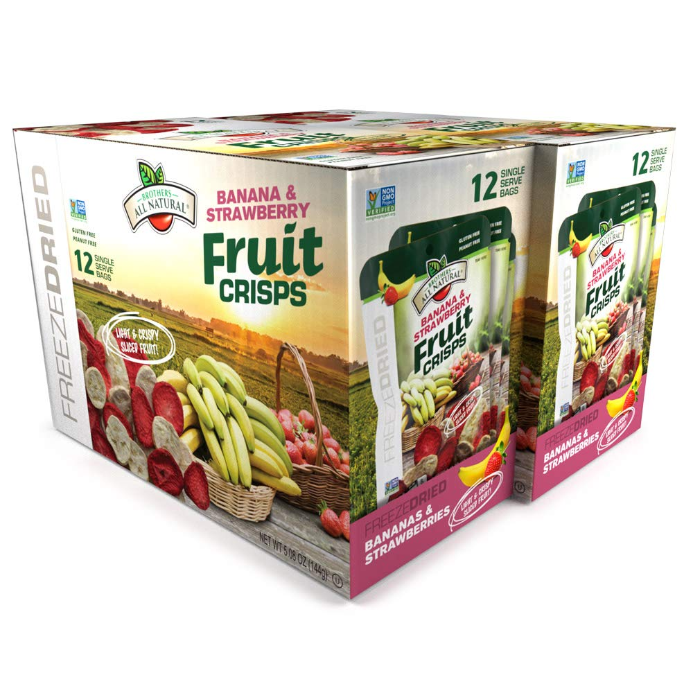 Fruit Crisps, Strawberry Banana, 0.42 Ounce (Pack of 24) Brothers-ALL-Natural - 12 Count (Pack of 2)