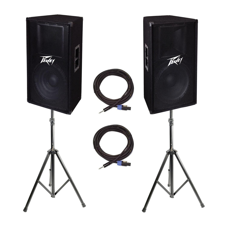 "Peavey 2-Way 15"" 800W Passive Sound Speaker (2) + 25' Cab..."