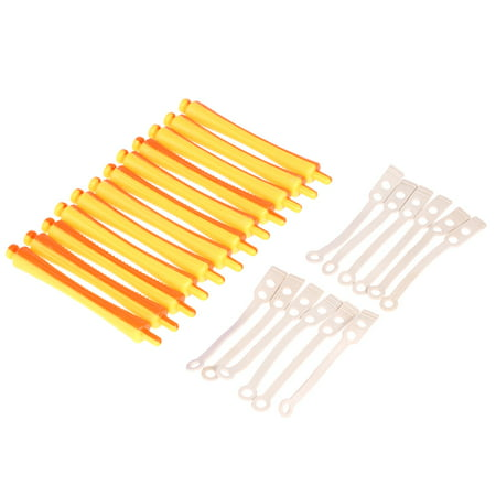12 Pieces Salon Cold Wave Rods Hair Roller With Rubber Band Curling Curler Perms Hairdressing Styling Tool for Girls Women Hair DIY Trx250r Hot Rods