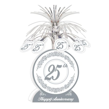 Anniversary Centerpieces (Club Pack of 12 Silver and White