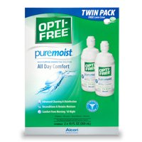 OPTI-FREE Puremoist Multipurpose Contact Lens Disinfecting Solution, 10 Fl. Oz. Twin Pack