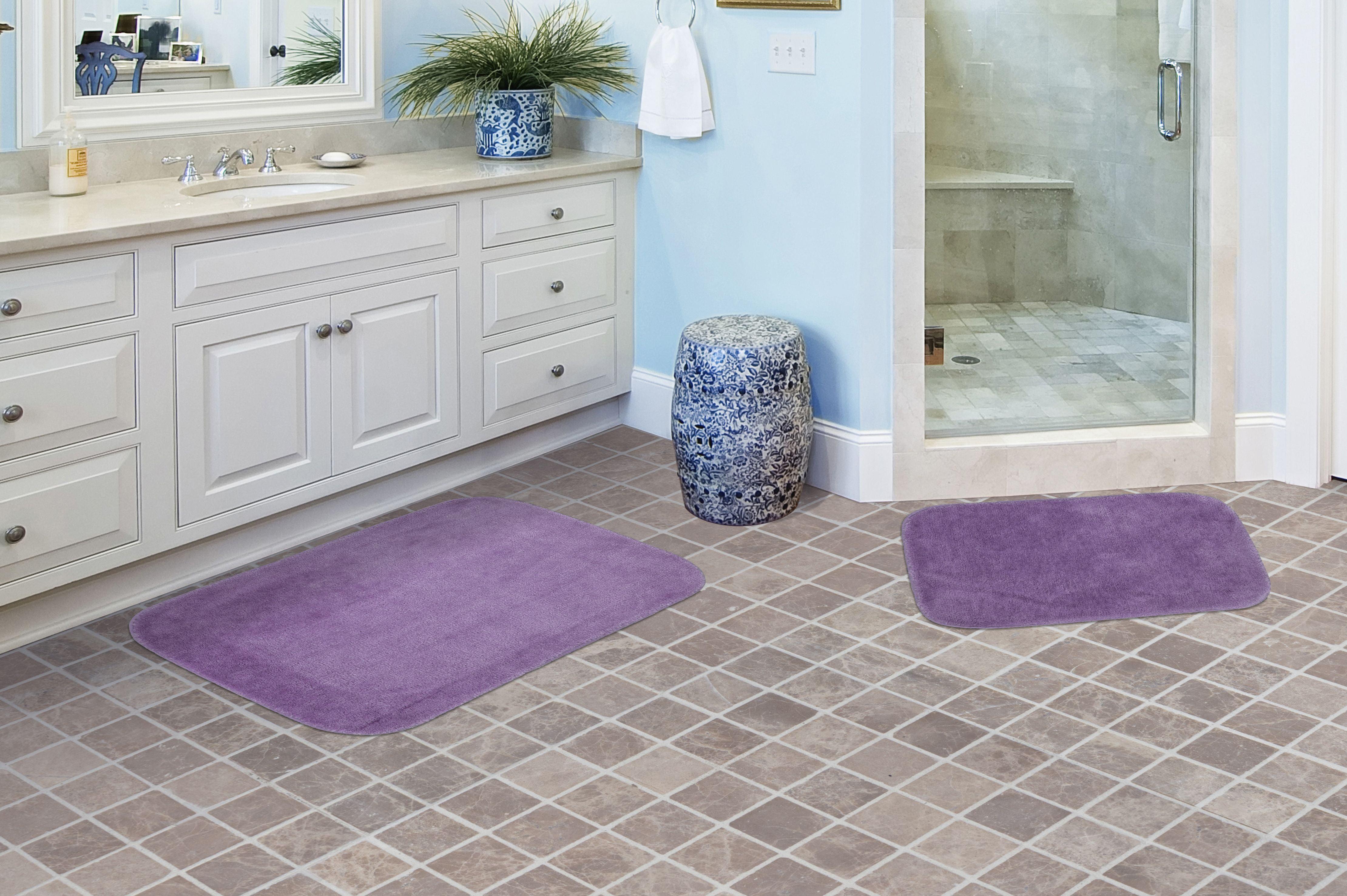 2 Piece Traditional Soft and Plush Nylon Washable Bathroom ...