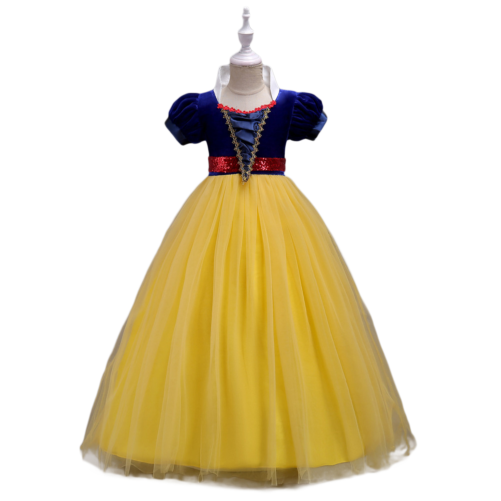 Girls' Princess Snow White Costume Fancy Dresses up for Halloween Party