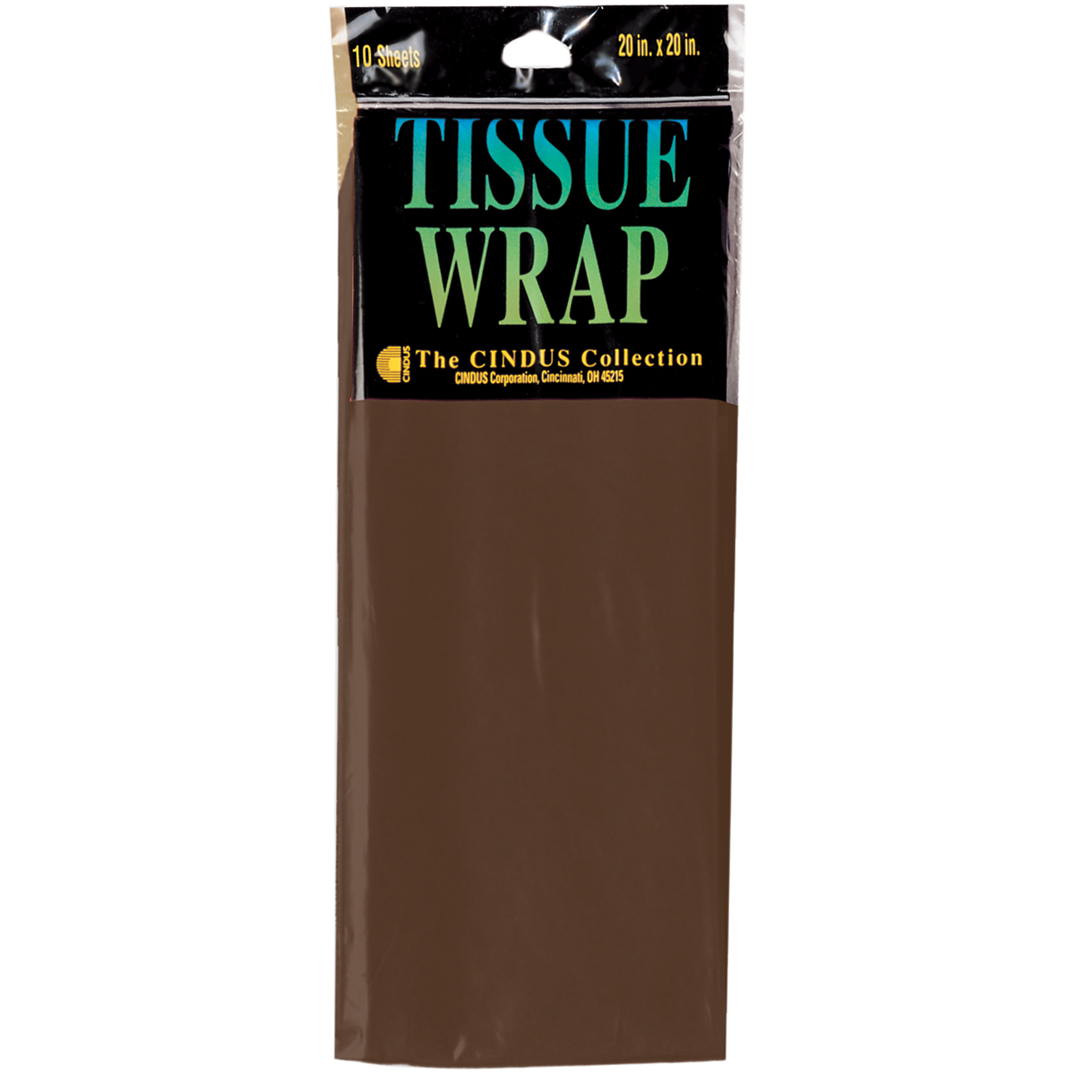 "Tissue Wrap 20""X20"" 10/Pkg-Brown"