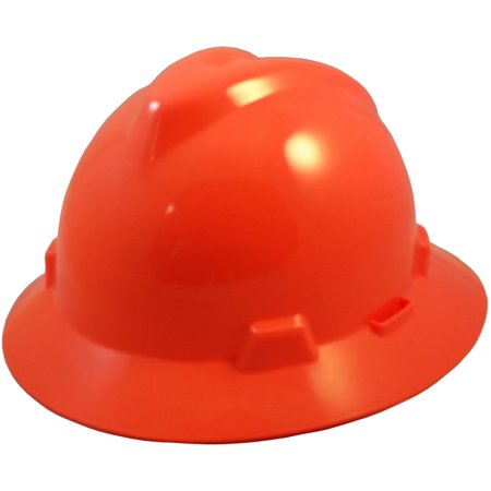 Light Blue Hard Hat (MSA V-Gard One-Touch Suspensions Full Brim Hard Hats - Standard)