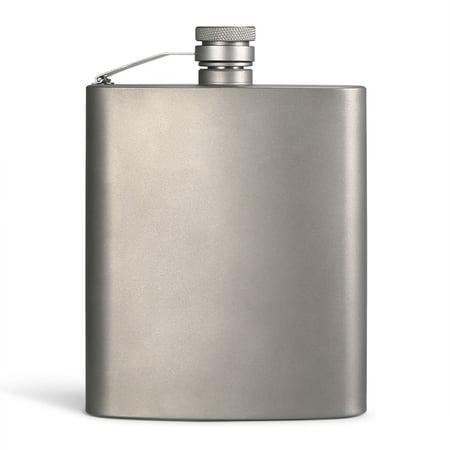 Picnic Plus Flask (200ML Titanium Flask Liquor Ultra Light Flat Hip Flask Outdoor Camping Picnic)