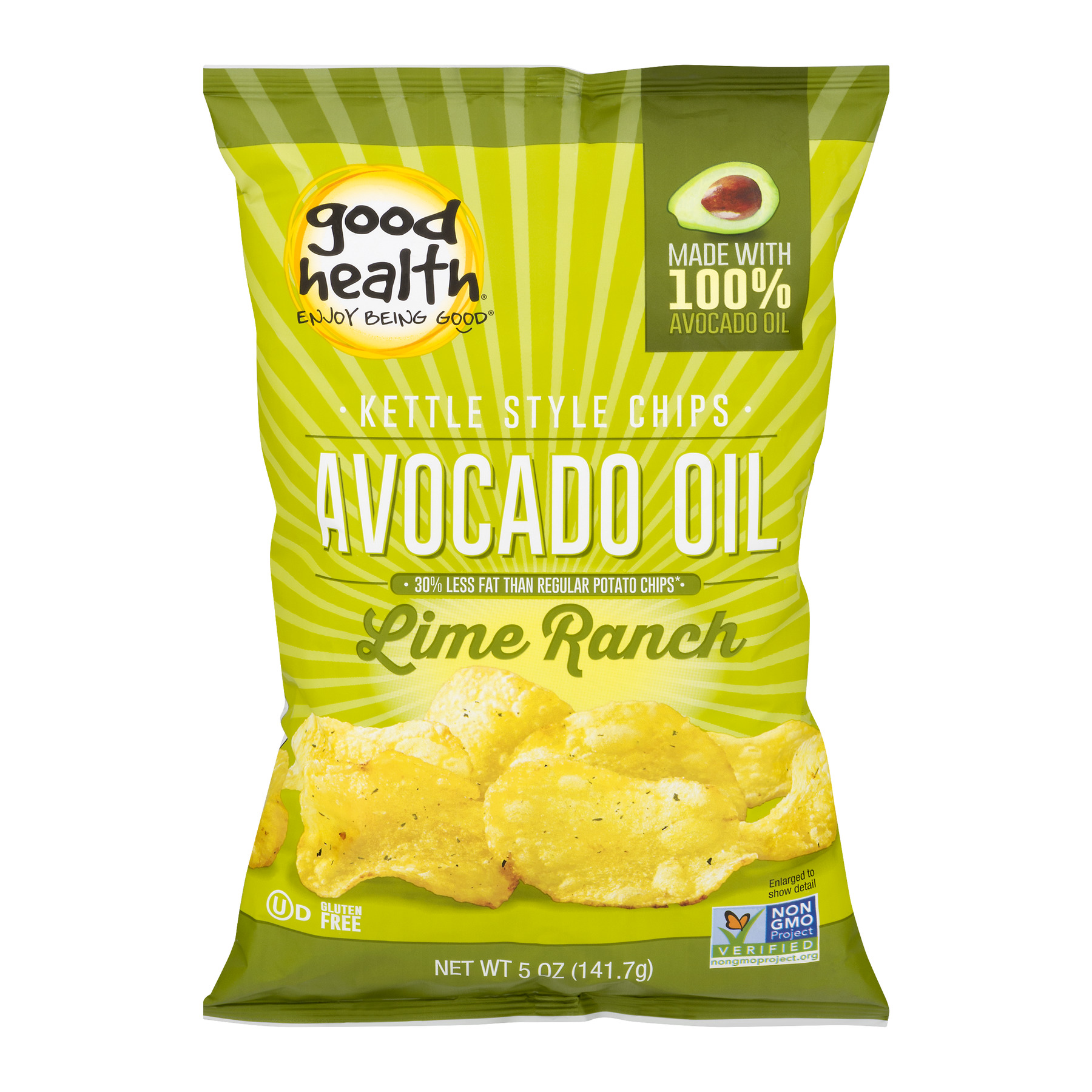 Good Health Avocado Oil Kettle Style Chips Lime Ranch, 5....