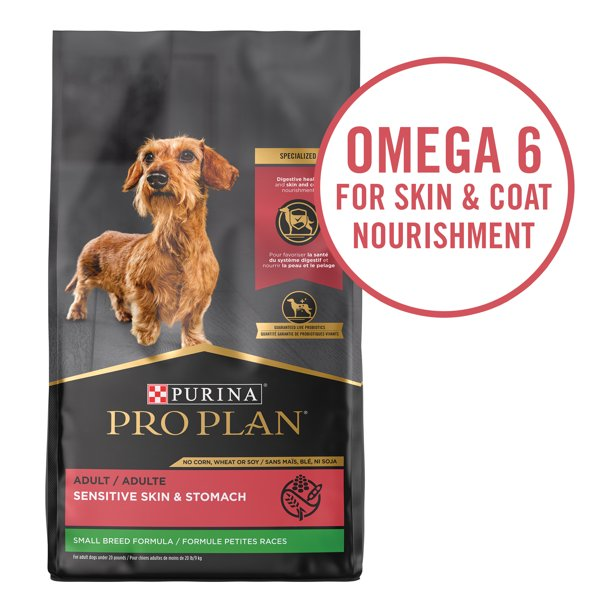 Purina Pro Plan High Protein, Sensitive Skin & Stomach Small Breed Dry Dog Food, Salmon & Rice Formula, 30 lb. Bag