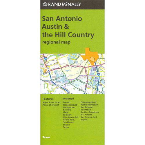 Rand McNally San Antonio, Austin & the Hill Country, Texas Regional Map