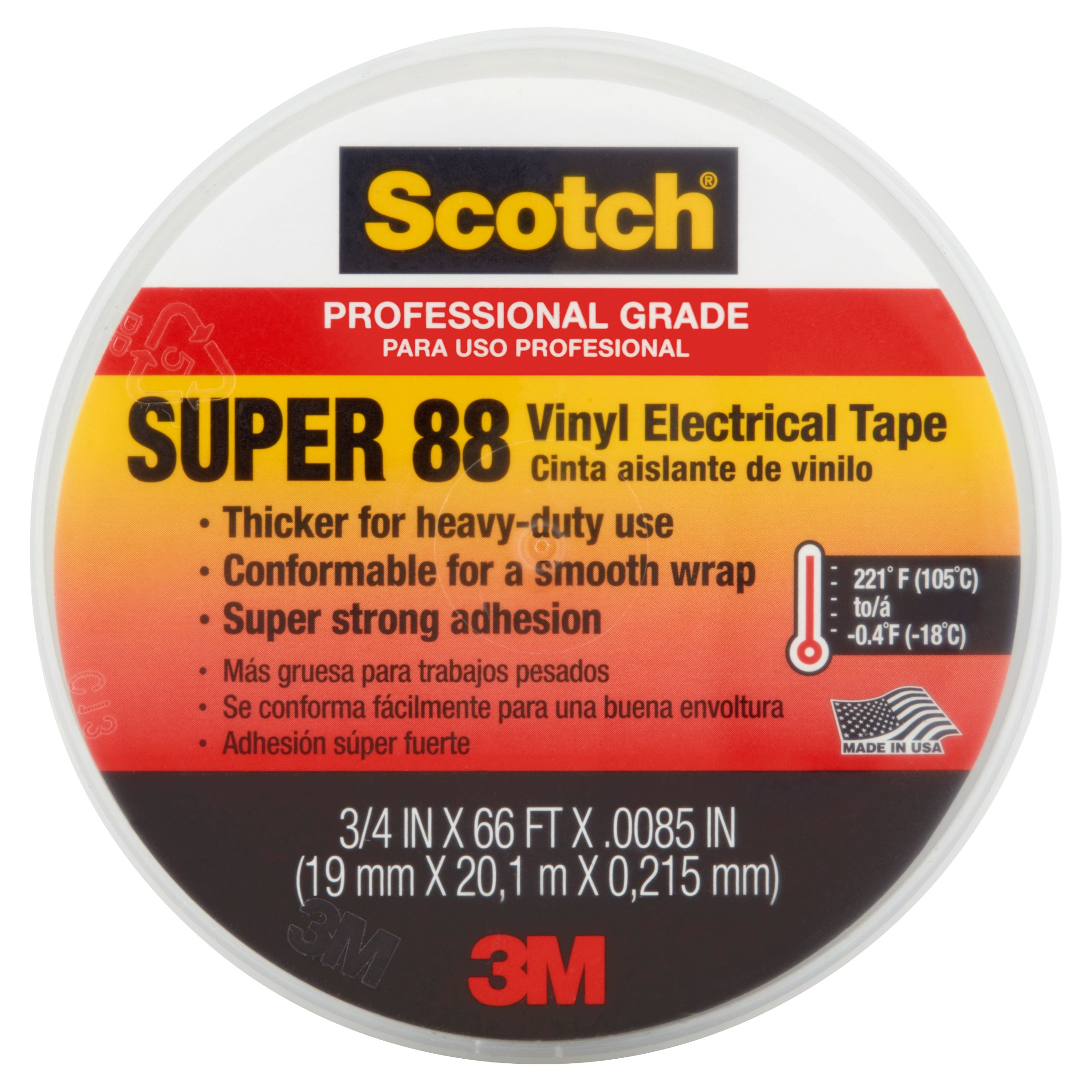 "SCOTCH 88 3/4"" X 66' Electrical Tape"
