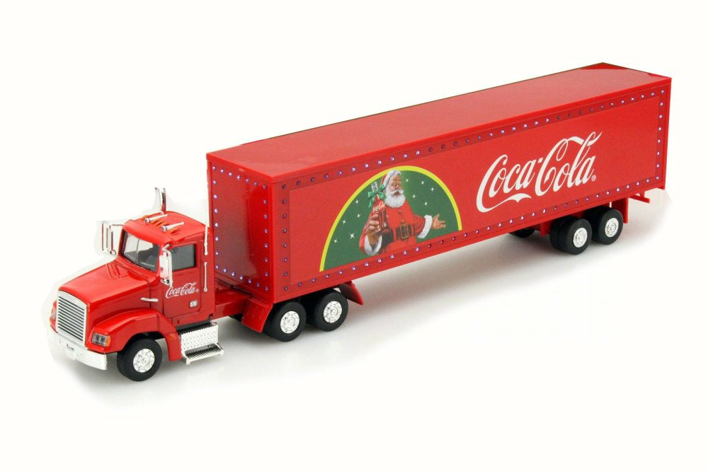 Holiday Caravan Tractor Trailer with LED lights, Red Motorcity Classics 443012 1 43 Scale... by Motorcity Classics