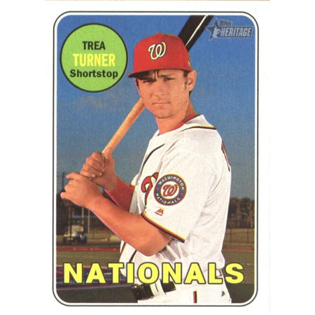 2018 Topps Heritage 104 Trea Turner Washington Nationals Baseball Card