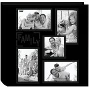"Sewn Embossed Collage Frame 5-Up Photo Album 12""X12"" -Family"