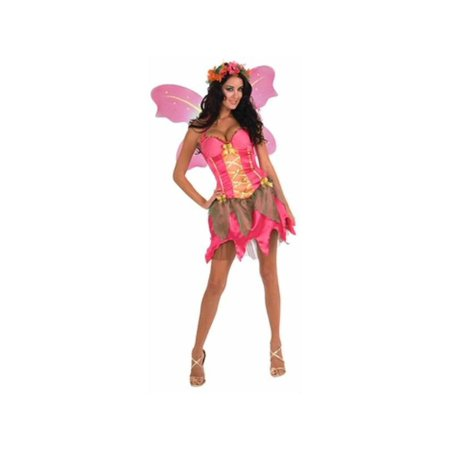 Adult Fantasy Garden Pink Fairy Costume - Fantasy Costume Ideas List