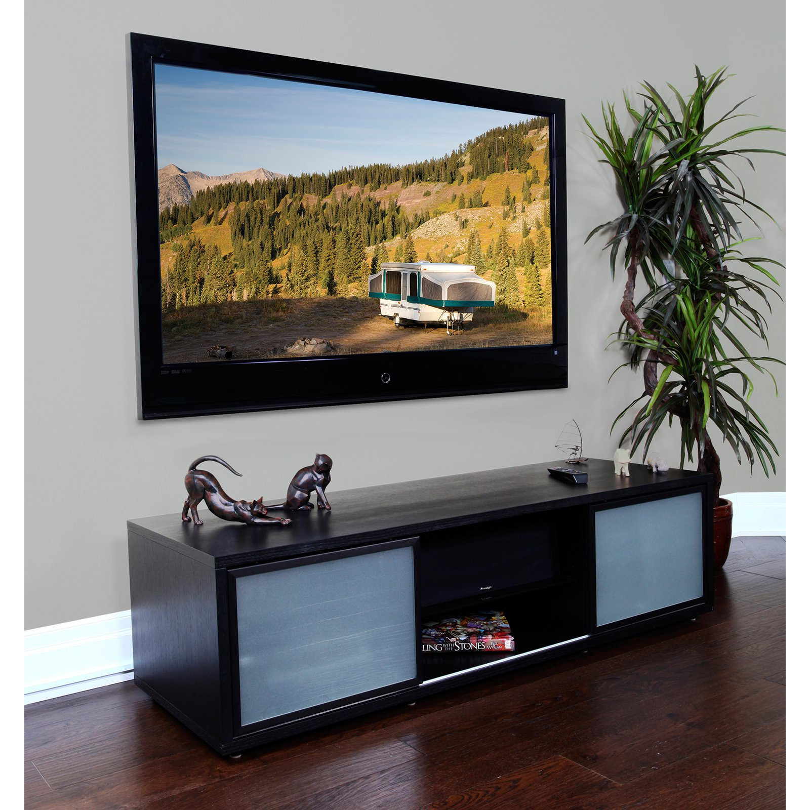Audio and Video Credenza with Storage - holds up to 70 Inch TV
