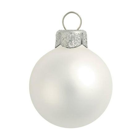 Northlight 40ct Matte Glass Ball Christmas Ornament Set 1.25