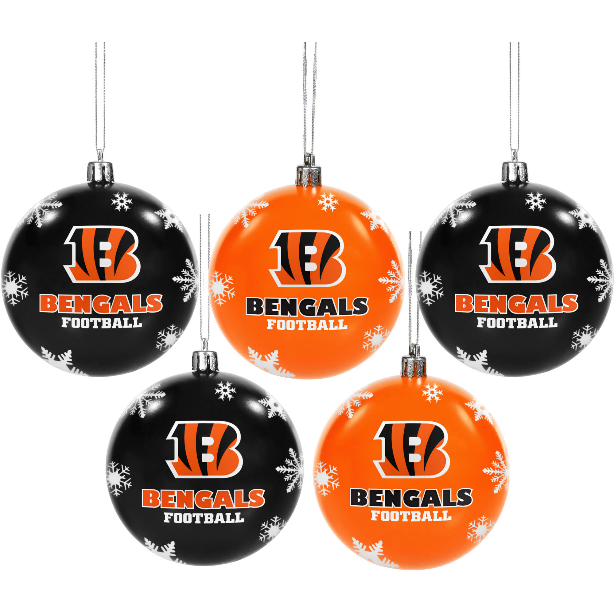 Forever Collectibles 2016 NFL Pack Shatterproof Ball Ornaments, Cincinnati Bengals