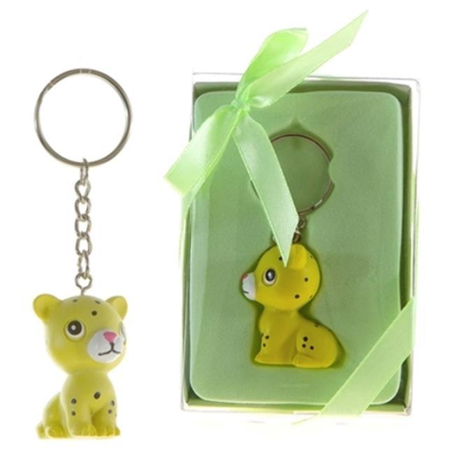 DDI 1996547 Baby Leopard Poly Resin Key Chain in Gift Box...