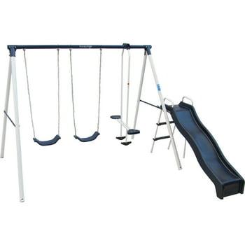Flexible Flyer Swing 'N Glide Metal Swing Set