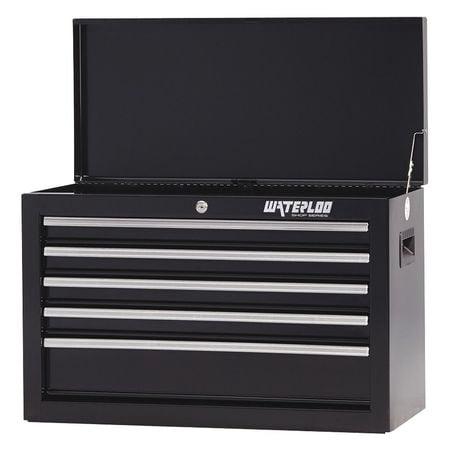 - WATERLOO SCH-265BK-B Top Chest,26x12x17-1/2,5 Drawers,Black