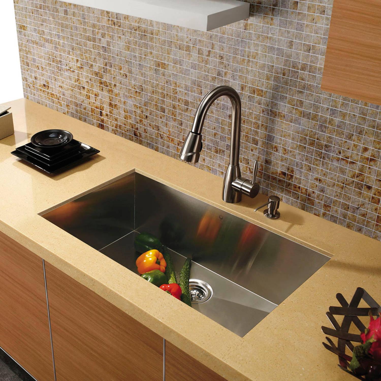 Vigo 30 Undermount Stainless Steel 16 Gauge Single Bowl Kitchen Sink