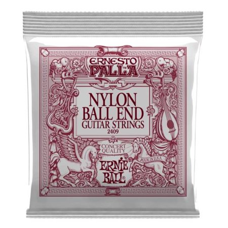 Ernie Ball 2409-U Ernesto Palla Ball-End Nylon Classical Guitar Strings, Black & Gold Classical Guitar Strings Tie End