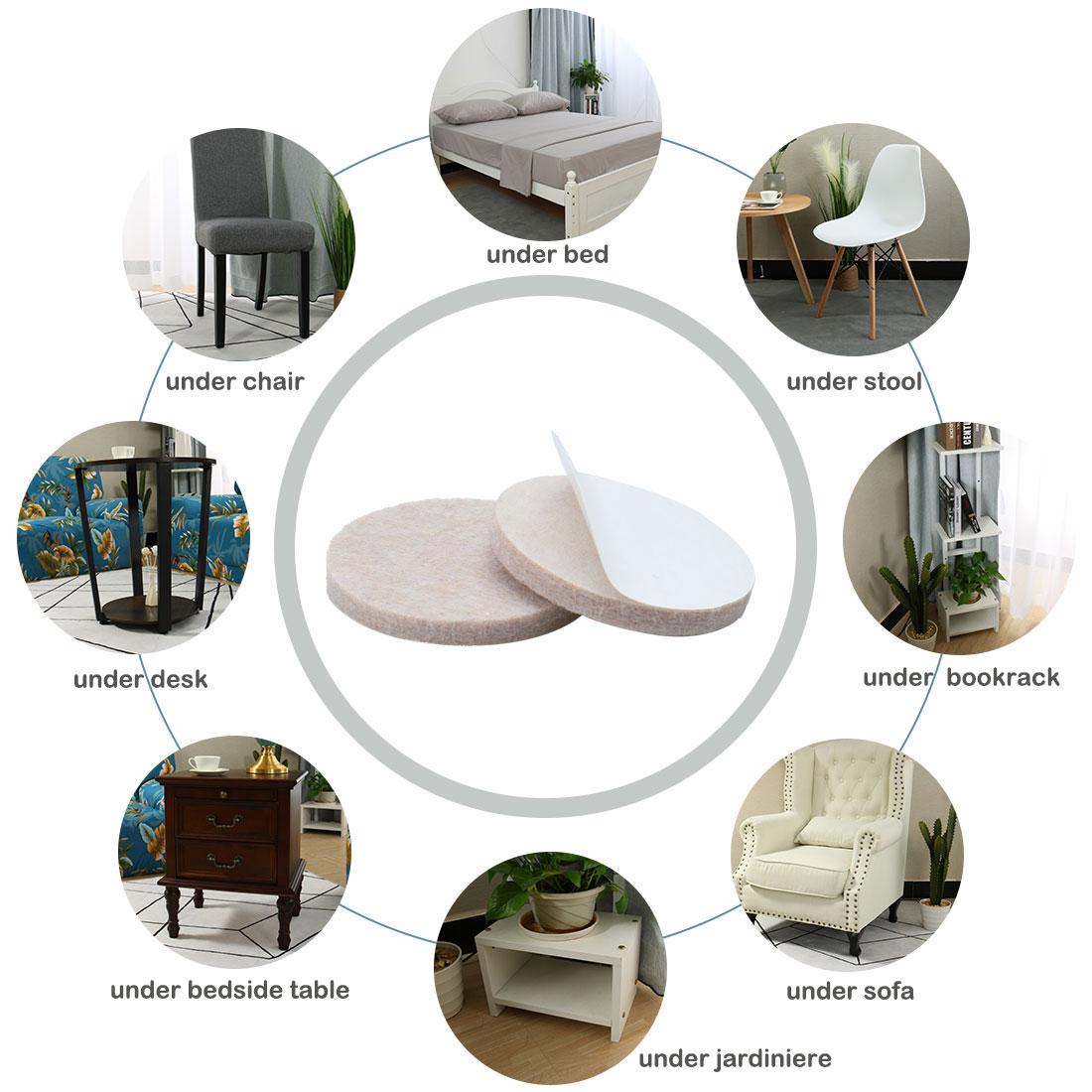 "Felt Furniture Pad Round 1 3/4"" Self Adhesive Anti-scratch Chair Protector 30pcs - image 4 de 7"